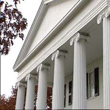 Pergola Fibergl Columns Exterior Architectural In The Front Of A House