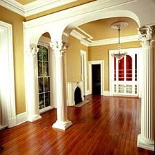 Decorative Pillars For Homes column ideas_interiors minimal painted Fluted Roman Decorative Columns