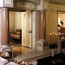 Interior round columns project photos polyclassiccolumnscom for Decorative interior wall columns