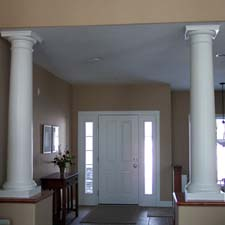 Interior round columns project photos for Fiberglass interior columns