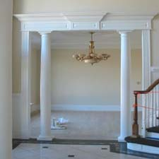 Interior Columns interior round columns project photos | polyclassiccolumns