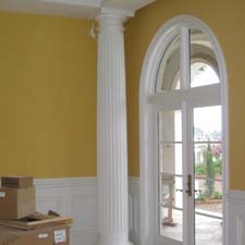 ... Fluted Decorative Columns With A Wainscot System