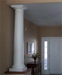 interior decorative tuscan fiberglass columns